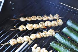 Cooking grilled shrimp